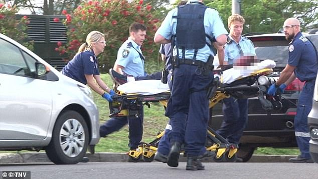 Pictured: Emergency crews are seen at the scene on Sydney's northern beaches in November 2018