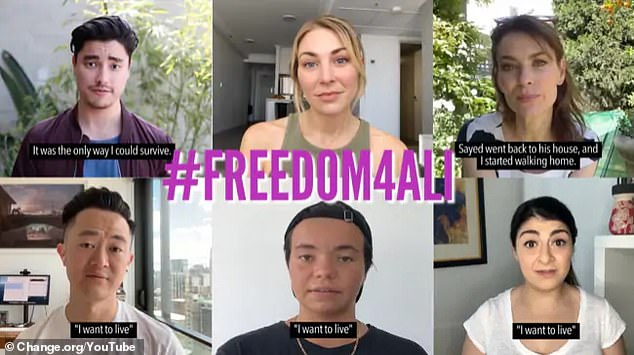 Case: The stars have joined the campaign #Freedom4Ali, to free Ali who escaped from the Middle East after being stabbed because of his sexuality