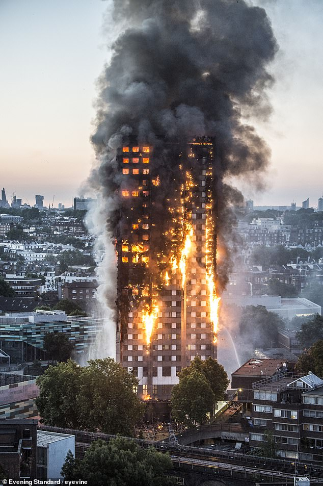 London's Grenfell tower disaster in 2017 where 72 people died due to dodgy fire cladding