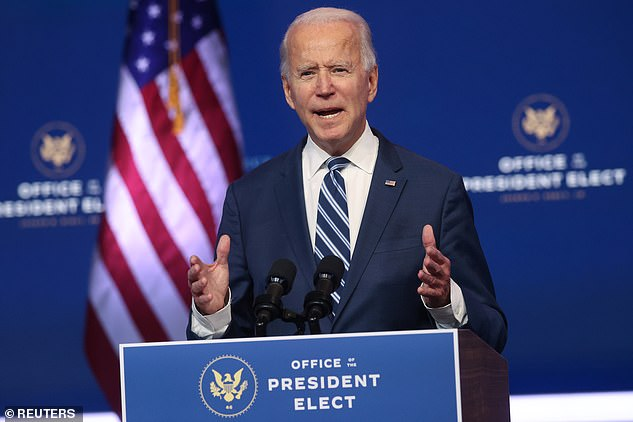 President elect Joe Biden has also suggested that action must be taken to stop the rise in cases as there could be a months-long wait until a vaccine is distributed across the country