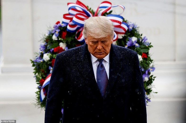 White House Christmas 2020 Tour 10 Minute Tour Trump's calm 10 minute public outing on Veterans Day belied a