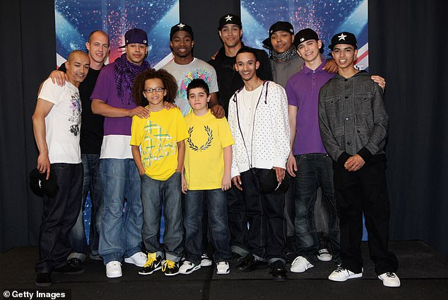 Fame: Jordan and his brother Ashley won Britain's Got Talent in 2009 with their Diversity dance troupe.  They have since launched successful presentation careers (pictured 2009)