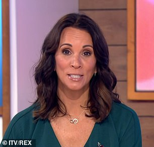 Oops: Andrea McLean wasn't on the show