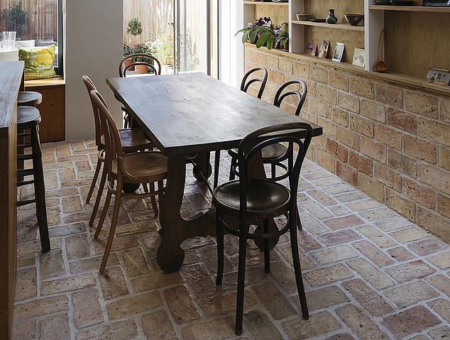 Rustic: A brick floor from Lubelska made from material reclaimed from farm building in Eastern Europe