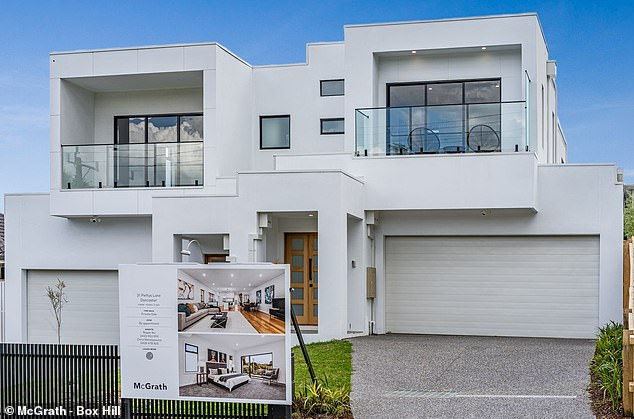 Zero interest rates could stop young people from getting into the housing market after the coronavirus recession is over. House prices in October rose in every capital city except Melbourne (Doncaster house pictured) even before the latest interest rate cut