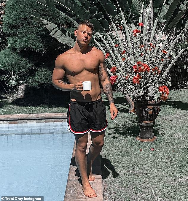 Party pad?The pair recently signed a lease on a new pad in Bondi with their co-star Trent Cray (pictured) after forming a close bond on The Bachelorette