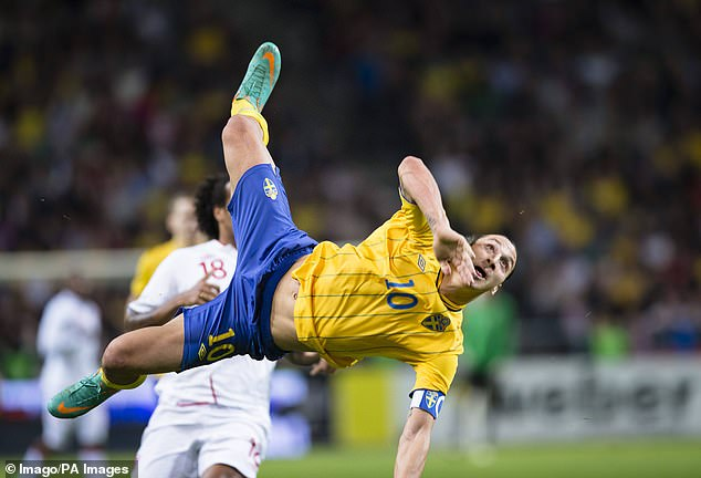 Ibrahimovic is Sweden's record top scorer, netting this bicycle kick against England in 2012