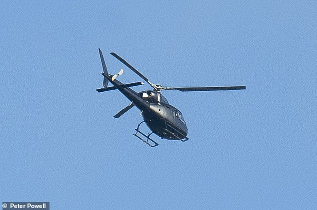 Here they come!Helicopters were spotted near Gwrych Castle in Wales on Friday afternoon, ahead of the first show of the upcoming series on Sunday night