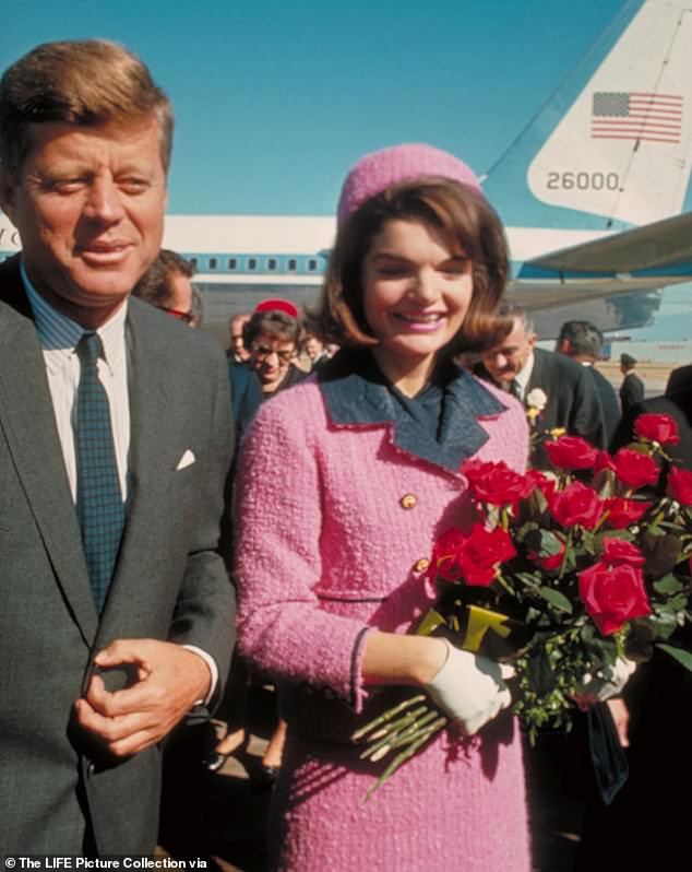 He was called to the White House on November 21 to style Jackie Kennedy's hair before she and her husband left for a trip to Dallas, Texas — where, less than 24 hours later,President John F. Kennedy would be assassinated. Pictured: JFK and his wife Jackie just after their arrival at the airport for the fateful drive through Dallas in 1963