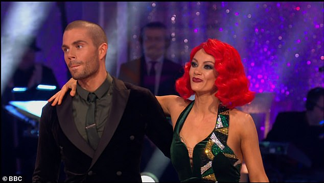 Disappointed:Max's American Smooth performance only earned him 20 points from the judges and put them second from bottom in the leaderboard