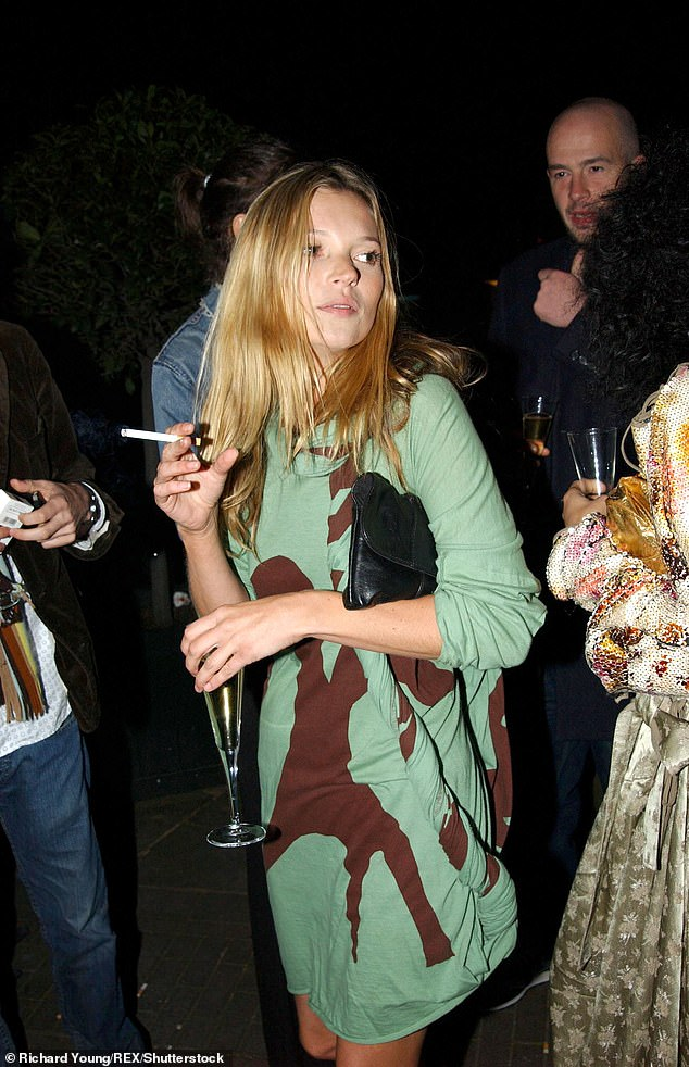 Lottie is the younger sister of model Kate Moss, pictured here at the Vivienne Westwood Exhibition in London in March 2004