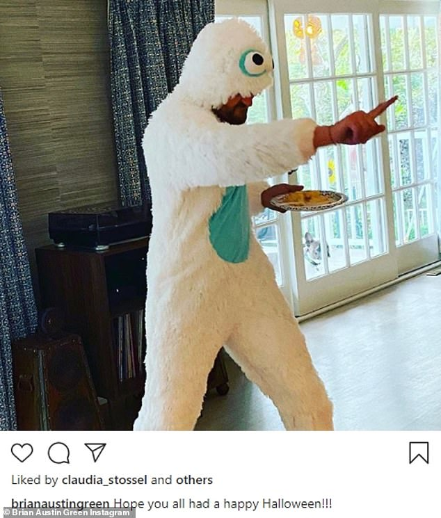 Online feud:At the start of this month, Fox lashed out at her estranged husband for putting one of their children in a Halloween photo on his Instagram; he since cropped Journey out