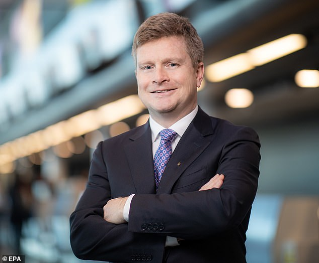 New British Airways chief executive Sean Doyle (pictured) called for passengers to be tested for Covid before leaving the UK rather than being quarantined for 14 days when returning