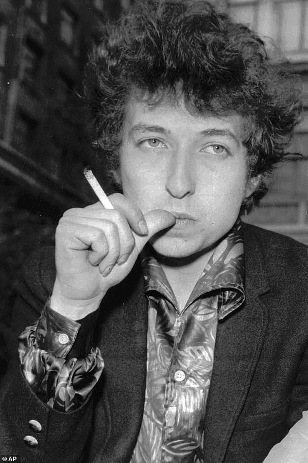 True story: Chalamet was also set to begin filming a Bob Dylan biopic, for which he was taking guitar lessons to portray the Desolation Row crooner (Dylan pictured in April, 1965)