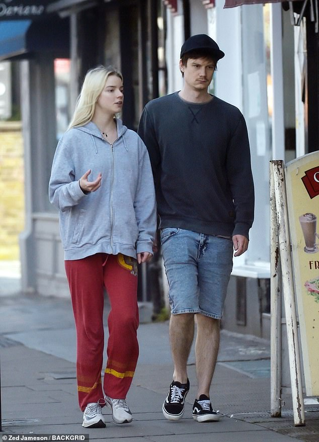American born actress Anya Taylor-Joy and boyfriend Ben Seed pictured looking very casual while seen out and about in London during the Coronavirus Lockdown!