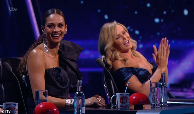 Judges take to the stage: All of the Britain's Got Talent judges will perform in the Christmas special for the first time, with Alesha Dixon and Amanda Holden set to sing in the show