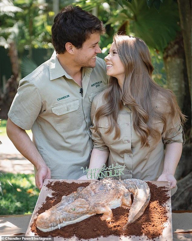Beautiful moment! The book launch follows Chandler celebrating his 24th birthday on Saturday, where he was presented with a crocodile cake.