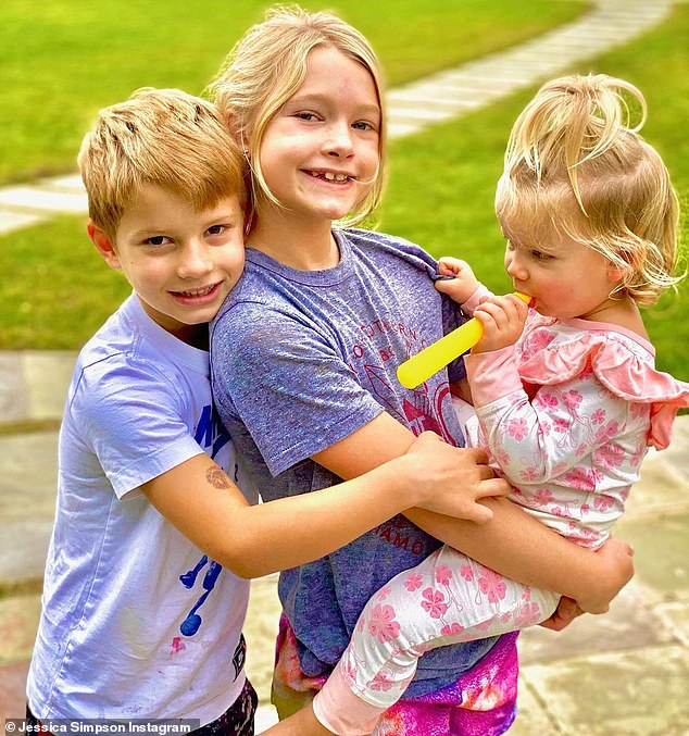 Her babies:The dynamic duo are the proud parents of two daughters, eight-year-old Maxwell and one-year-old Birdie, as well as a seven-year-old son called Max