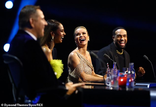 First time ever: Judges of the talent show have taken to the stage to perform in previous series but in the hit series' lengthy history, the four judges have never all taken to the stage before