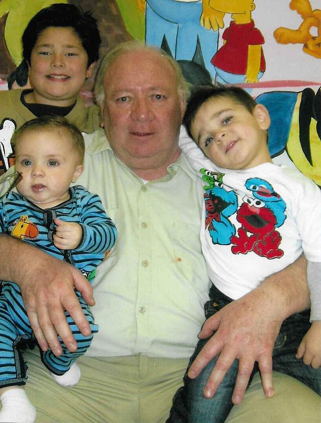 Seresi was not directly involved in the cocaine distribution and had no prior criminal records but several appeals that were launched over the decades were all rejected. He kept in touch with his daughter and grand children, whom he is pictured with here