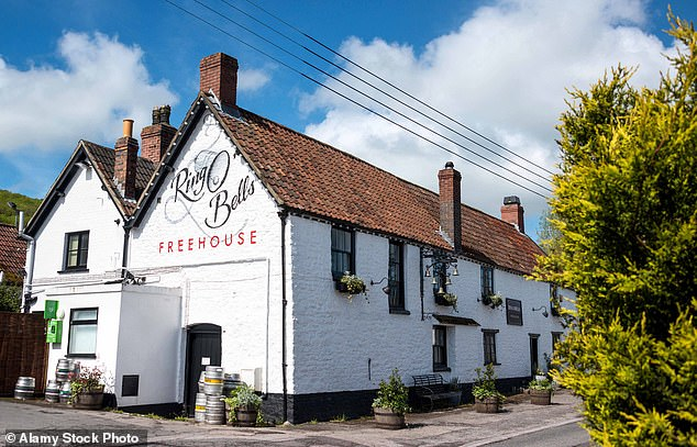 Pictured: The Ring O'Bells pub at Compton Martin in Somerset. The pub's quiz night has been hosted by Kylie Minogue and Coldplay entertained regulars there