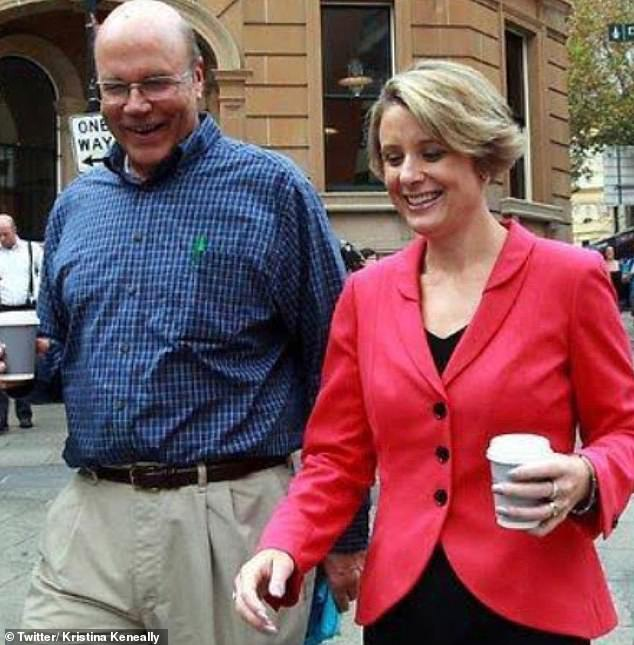 Ms Keneally (pictured above with Mr Kerscher) said her father died after a year-long battle with cancer linked to his exposure to Agent Orange during the Vietnam War