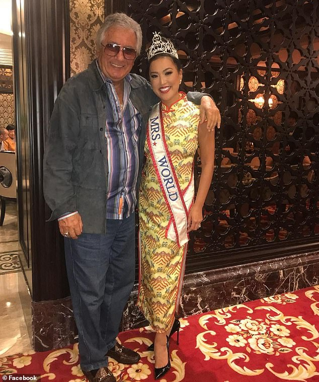 Giannetta claims she was asked to work for pageant by founder David Marmel, 84, pictured.  Marmel passed away from cancer on September 1 before the lawsuit was launched