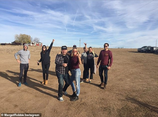 Lovely scenes: Another photo showed the cast and crew posing together in a desert setting and was captioned, 'beautiful Mexico'