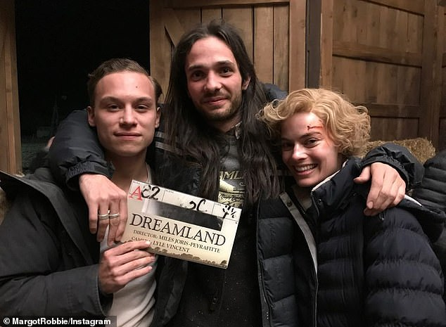 Stars: Margot Robbie shared a number of behind-the-scenes photos from the set of her new film Dreamland, which was shot in Mexico, to her Instagram Stories on Sunday. Pictured with her director, Miles Joris-Peyrafitte, and co-star, Finn Cole