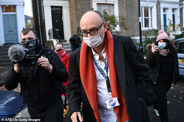 Concerns have long been raised over the 'laddish' culture in Downing Street under Mr Cummings (pictured)