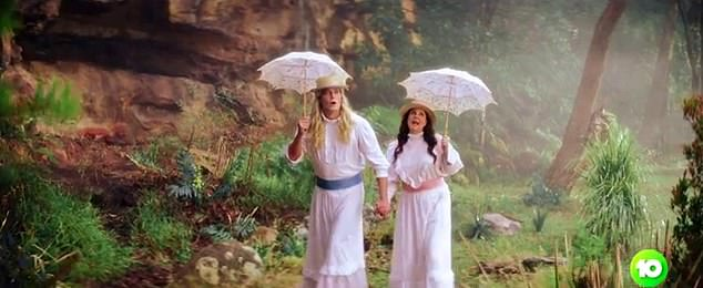 All the classics: A scene from Picnic At Hanging Rock also featured in the promotional ad