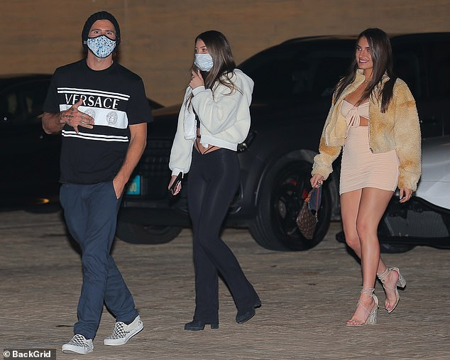 Three's a crowd:Brody Jenner enjoyed a late-night dinner with two mystery women on Saturday night, seen leaving posh restaurant Nobu in Malibu together