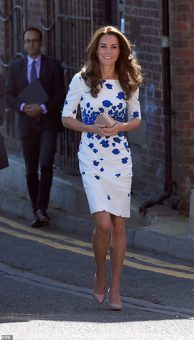 LK Bennett shoppers have previously complained its clothes became too expensive once the Duchess of Cambridge started wearing them (pictured in August 2016)