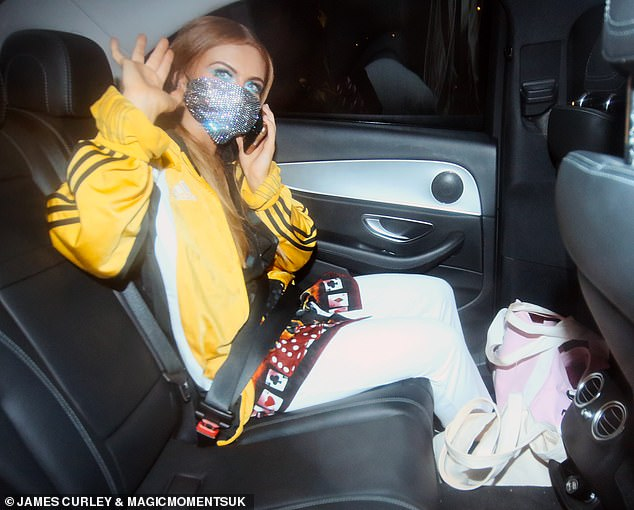 Home time! Maisie Smith ensured she was seen out alone this time round as she headed home in a black cab following Saturday's edition of Strictly Come Dancing after breaking Covid rules