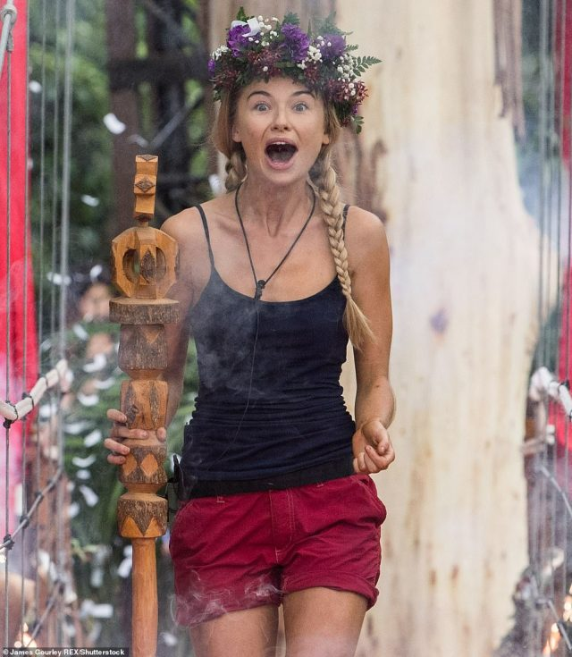 Happy:But it was the ever-sunny Toff who was crowned winner with an overwhelming majority as she managed to maintain a positive outlook in the midst of the camp hardship