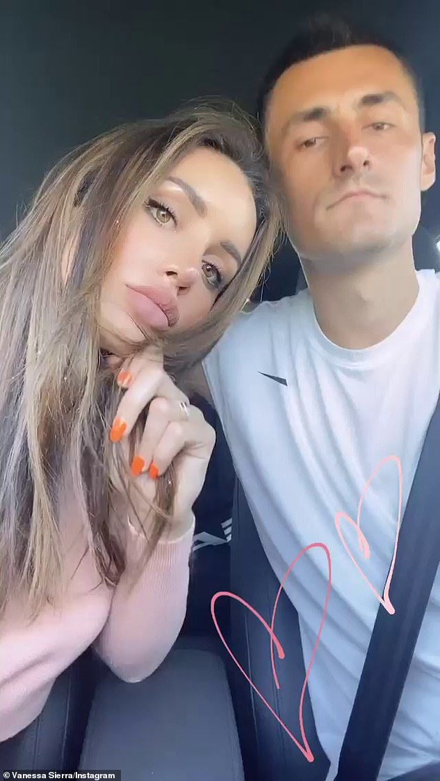 Spilling the beans:'It was his idea. It wasn't me convincing him,' Vanessa said, adding. 'He just decided to hop on my OnlyFans yesterday [Sunday]'