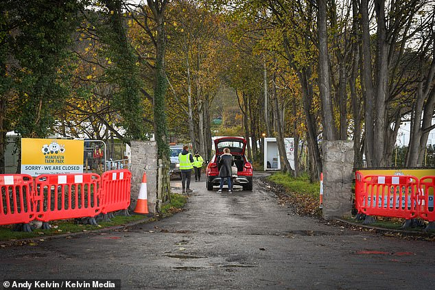 Not available:Locals who approached the castle in Abergele, North Wales were challenged by dozens of security guards put in place for the 20th series of the survival series