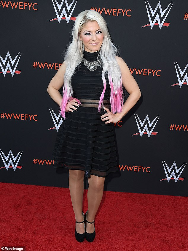 Star power: Alexa was previously engaged to wrestler Buddy Murphy and is the first woman to have won both the Raw and SmackDown Women's title