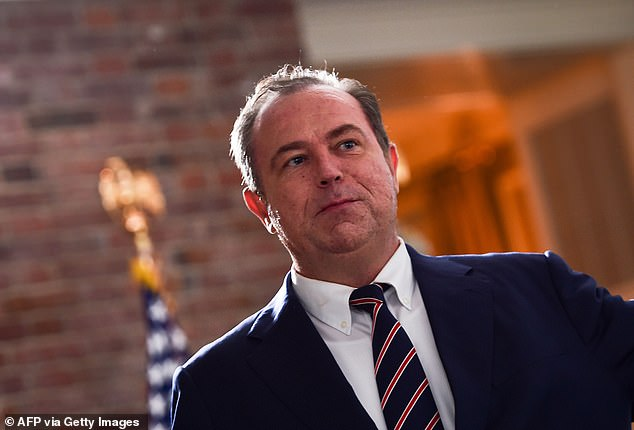 """'Newsmax would never become """"Trump TV"""",' Newsmax CEO Christopher Ruddy assured in an interview with Variety. 'We have always seen ourselves as an independent news agency, and we want to continue with that mission'"""
