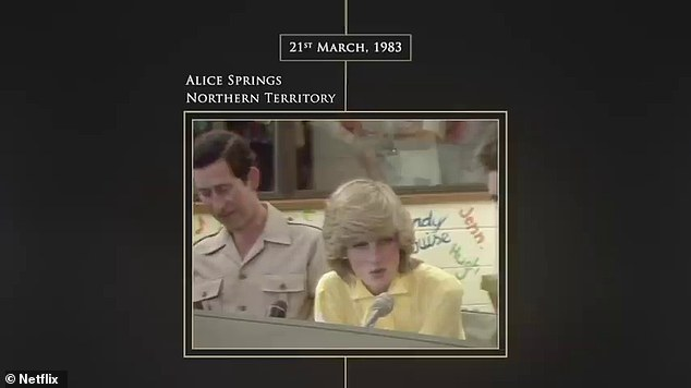 The truth behind the drama: Netflix has released archive footage of Prince Charles and Princess Diana's 1983 tour of Australia, much to delight of fans of The Crown