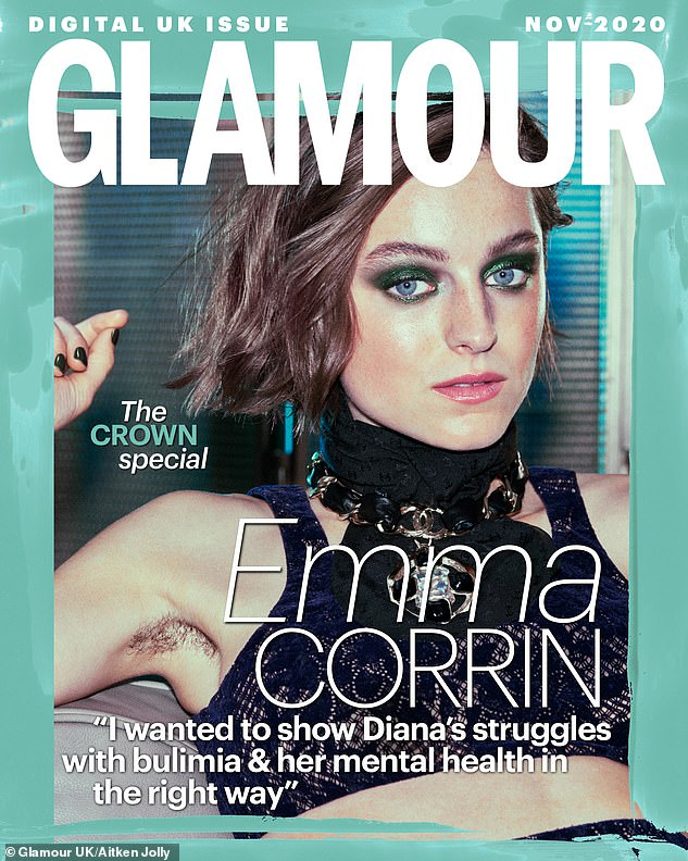 The Crown's Emma Corrin displays underarm hair on magazine cover