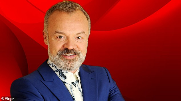 New guard: Last month, Graham announced he would be joining Virgin Radio UK for a new flagship show after revealing his decision to depart BBC Radio 2