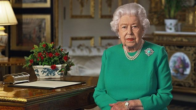 Still very much alive: The Queen, 94, pictured speaking during a national address in April, was one of the hundreds of celebrities to be accidentally announced to have died by France's public radio station RFI. The station later blamed the publications on technical problems