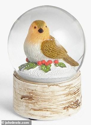 John Lewis is offering a similarly festive themed room decoration (pictured) at a higher price tag of £15