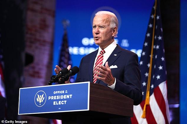 Joe Biden warned a 'dark winter' is ahead as the nation battles the coronavirus