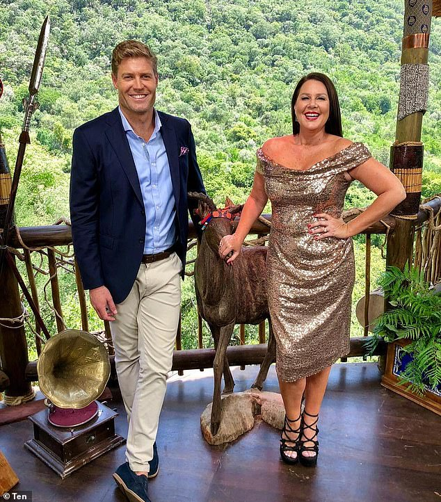 Dumped:The former MKR judge was set to join the cast of reality show I'm a Celebrity... Get Me Out of Here! - which begins filming next week - but the network pulled the plug overnight in response to his latest controversy. Pictured:I'm a Celebrity hosts Chris Brown and Julia Morris