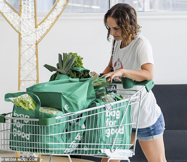 Above and beyond her kale of duty: Natalie's low-key sighting comes after she revealed that she didn't enjoy training for the role of Jane Foster in the new Thor: Love and Thunder