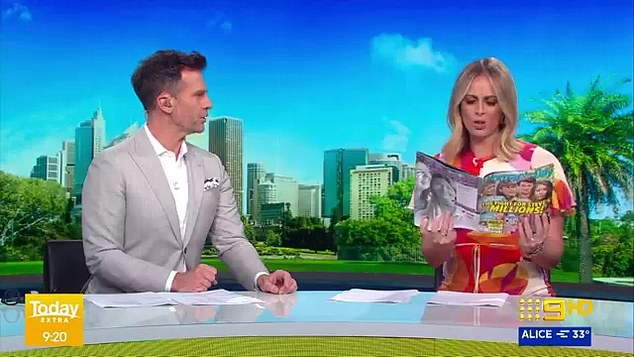 Not impressed: Sylvia's Today Extra co-host David Campbell asked in disbelief: 'Who is winning the war? Sorry, did you know they were at war?'