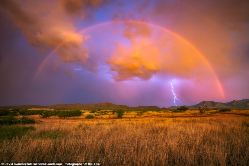 American David Swindler is the photographer behind this awesome top 101 image -Lightning Rainbow - which was snapped in southern Arizona