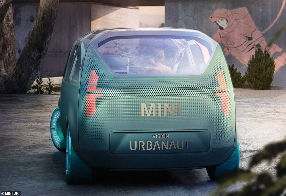 The matt exterior Zero Gravity paint transitions from a metallic green with blue flip effect to a subtly toned grey